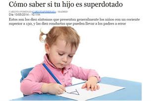Cómo saber  si tu hijo es superdotado, documento a descargar